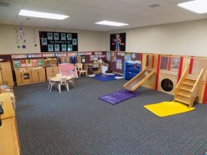 Each classroom is arranged with a variety of interest areas in mind.